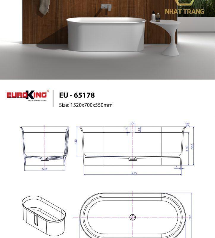 bồn tắm Euroking 65178