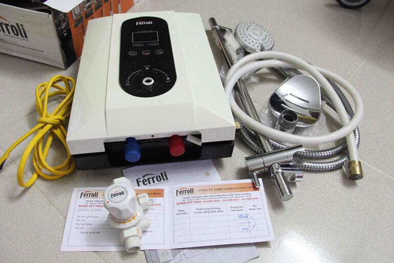 cách sử dụng bình nóng lạnh ferroli