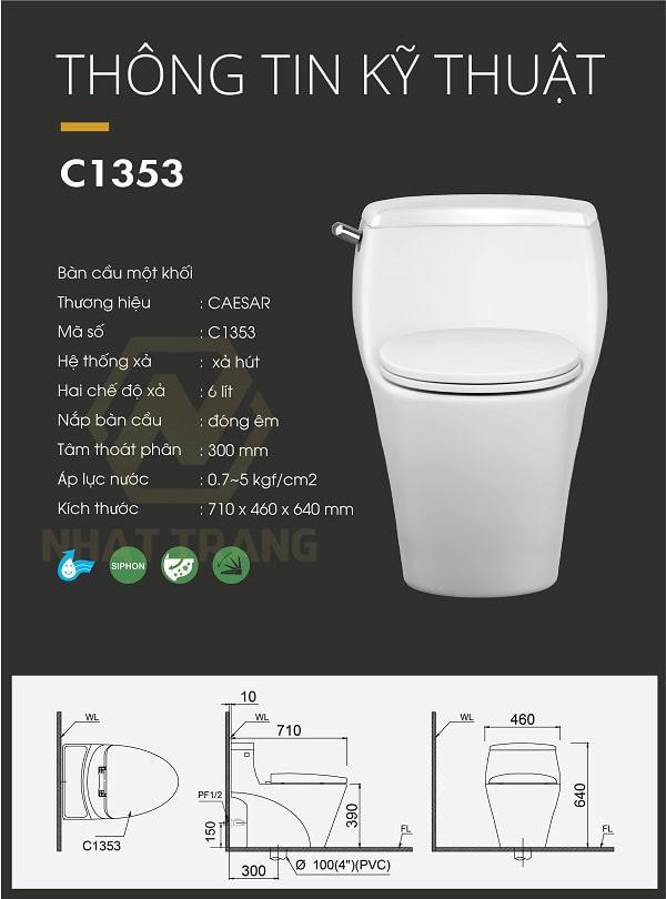 bồn cầu Caesar C1353