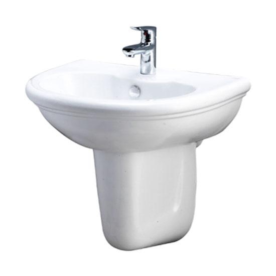 Chậu rửa lavabo chân lửng Caesar L2230 P2441