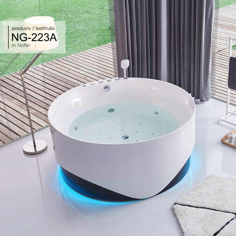Bồn tắm massage hình tròn Nofer NG-223A