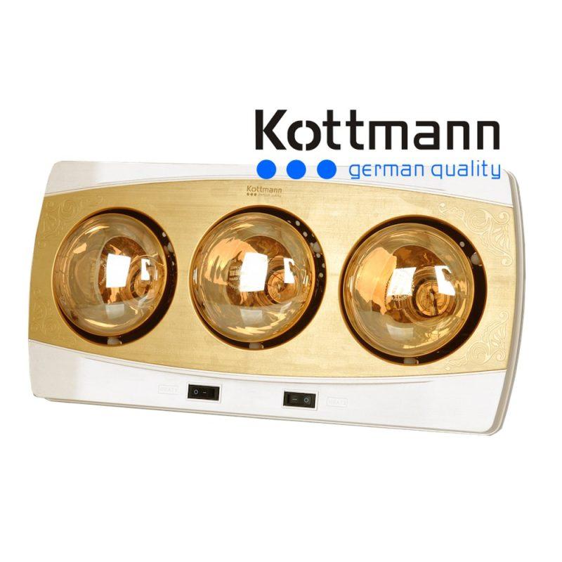 Đèn sưởi Kottmann 3 bóng treo tường K2BQ