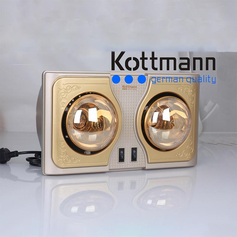 Đèn sưởi 2 bóng treo tường Kottmann – K2BH