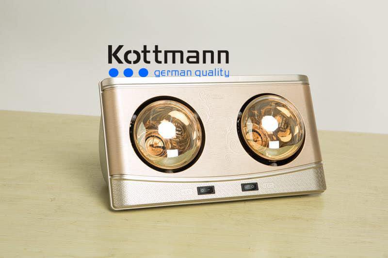 Đèn sưởi Kottmann 2 bóng treo tường K2BQ