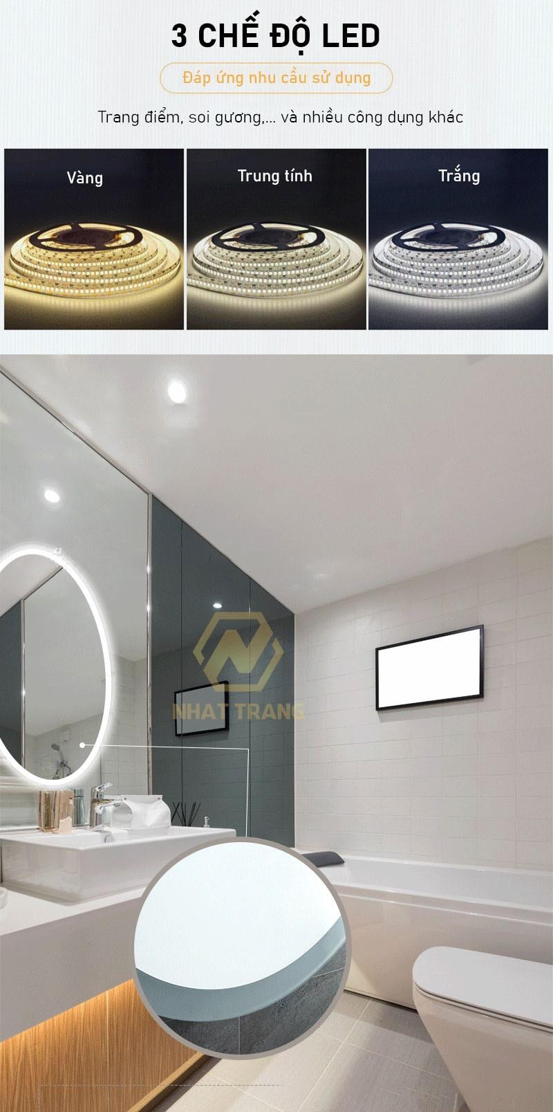 Gương đèn LED nhà vệ sinh MILOR